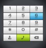 Clavier numérique blanc de téléphone de nombre Images stock