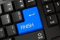 Clavier numérique bleu de finition sur le clavier 3d Photographie stock libre de droits