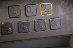 Clavier numérique d'ascenseur Images stock