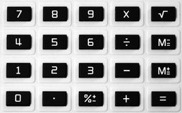 Clavier numérique de calculatrice Photos libres de droits