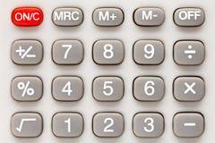 Clavier numérique de calculatrice Images stock