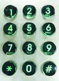 Clavier numérique de téléphone. Photo libre de droits