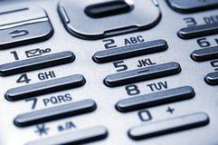 Clavier numérique de téléphone portable Image stock