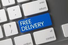 Clavier numérique gratuit de la livraison de bleu sur le clavier 3d Photo stock