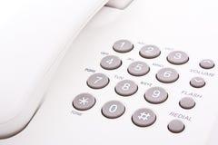 Clavier numérique gris de téléphone Photographie stock libre de droits