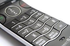 Clavier numérique moderne de téléphone sans fil Photographie stock libre de droits