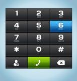 Clavier numérique noir de téléphone de nombre Photo stock