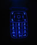Clavier numérique rougeoyant de téléphone Images libres de droits