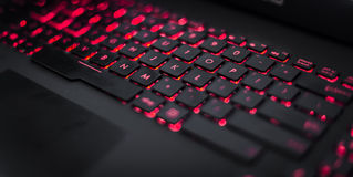 Clavier rouge Photos stock