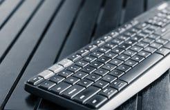 Clavier sans fil d'ordinateur - périphérique d'ordinateur image libre de droits