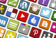 Clavier social de mise en réseau Photos libres de droits
