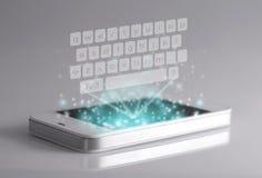 Clavier tridimensionnel sur le smartphone Image libre de droits