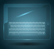Clavier virtuel Photo stock