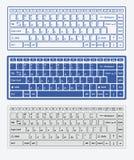 Claviers d'ordinateur Photographie stock libre de droits