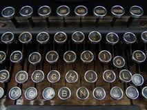 Claviers de machine à écrire Photo libre de droits
