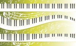 Claviers de piano Images libres de droits