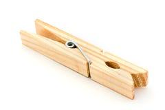 Clavija de madera sobre blanco fotos de archivo