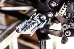 Clavija del pie de la motocicleta Foto de archivo