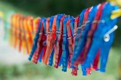 Clavijas de ropa Imagenes de archivo