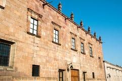 clavijero墨西哥墨瑞利亚宫殿 免版税库存照片