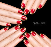 Clavo Art Trend Esmalte de uñas de lujo Etiquetas engomadas del clavo Imagen de archivo