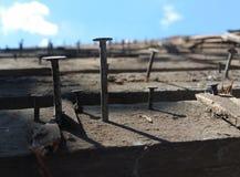 Clavos de la techumbre Foto de archivo libre de regalías
