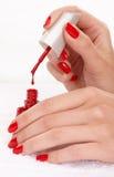Clavos rojos Imagen de archivo libre de regalías