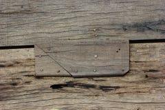 Clavos y fondo de madera Imagen de archivo libre de regalías
