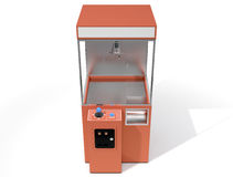 Claw Arcade Game. A 3D render of an empty arcade type claw grabber game on an  white background Stock Images