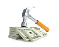 Claw hammer dollar Stock Photo