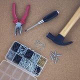 Claw hammer and pliers Royalty Free Stock Photo
