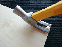 Claw hammer Royalty Free Stock Images