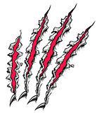 Claw Scratch. Red and black claw scratch vector illustration
