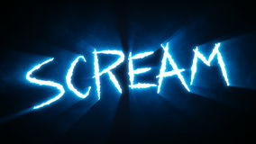 Claw Slashes Scream Blue stock video footage