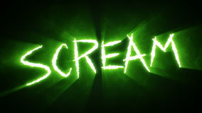 Claw Slashes Scream Green stock video