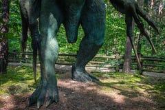 Claws of a Therizinosaurus scythe lizard Stock Image