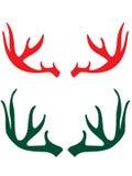 Claxones de los ciervos foto de archivo