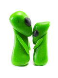 Clay alien couple Royalty Free Stock Photos