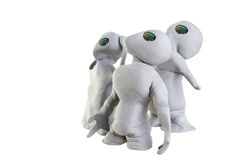 Clay Aliens Stock Photos
