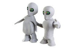 Clay Aliens Stock Image