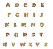 Clay alphabet letters Royalty Free Stock Images