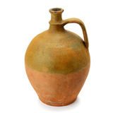 Clay amphora  on white background Stock Image