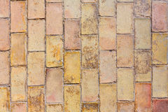 Clay ancient brick flooring texture in Alicante Royalty Free Stock Photography