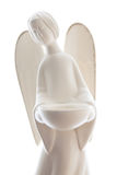 Clay Angel Statue Isolated sur le blanc Images stock