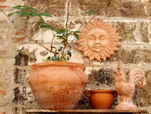 Clay art. Objects on display in Gubbio medieval town, italy Royalty Free Stock Image