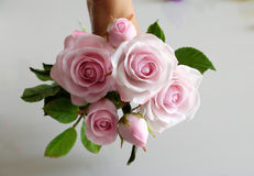 Clay art, bouquet of roses flower Stock Photos