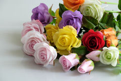 Clay art, colorful roses flower Stock Images