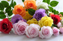 Clay art, colorful roses flower Stock Image
