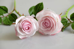 Clay art, pink roses flower Stock Images