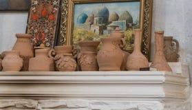 Clay art pots royalty free stock image